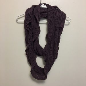 Mauve Cable Knit Infinity Scarf